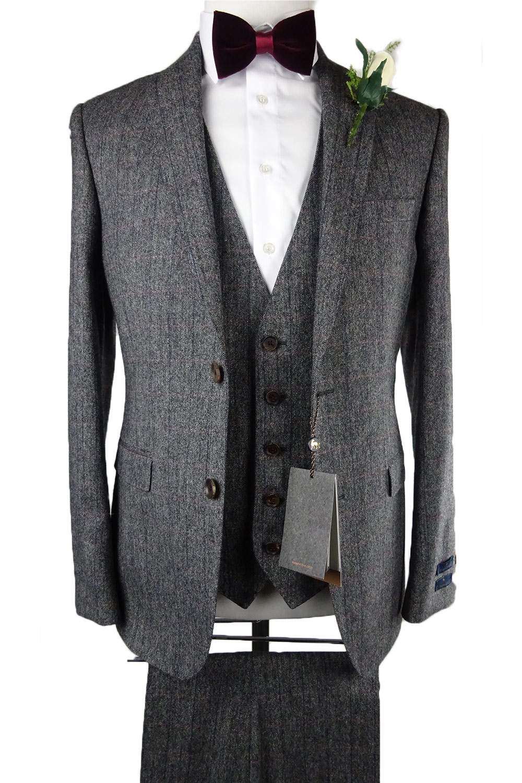 Magee Grey Pink Tweed 3 Piece Suit