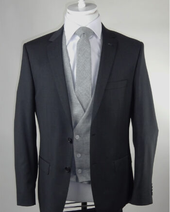 Grey Suit Light Grey Lambswool Waistcoat