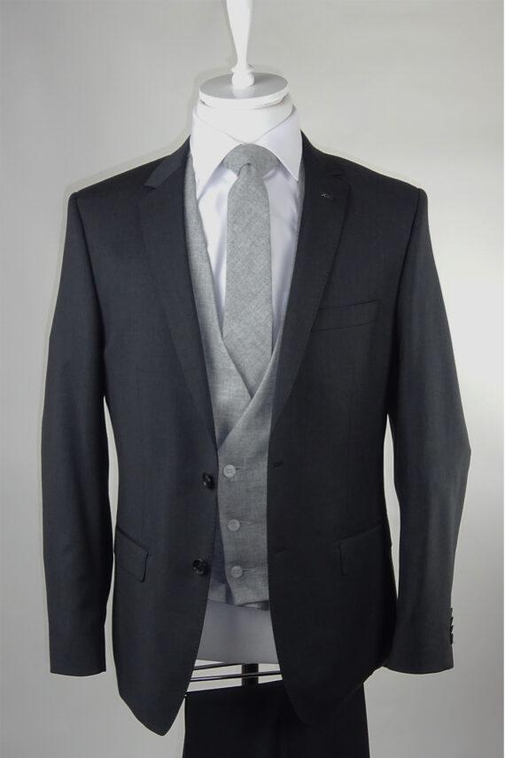 Grey Suit Light Grey Lambswool Waistcoat
