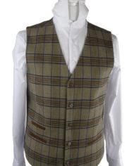 Haddington Brown Check Waistcoat