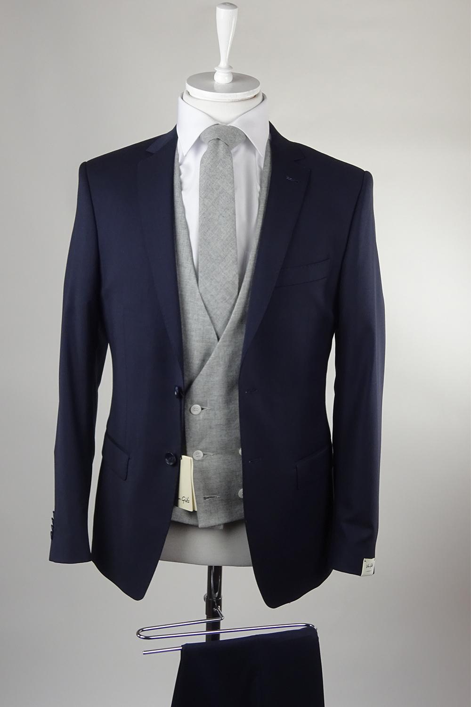 Van Gils Navy suit lambswool waistcoat