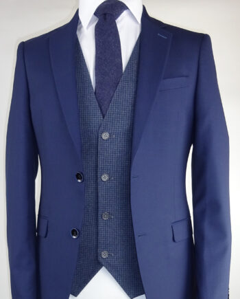 Navy Suit Dolby Navy Dice Waistcoat