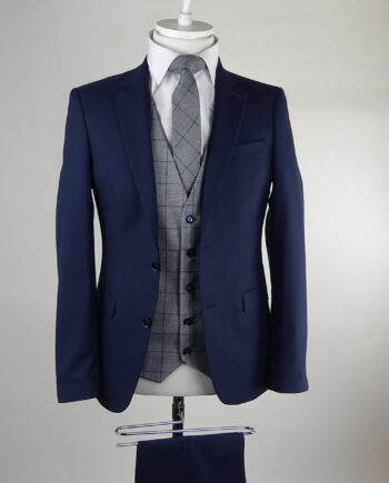 Navy Suit Hackett Waistcoat