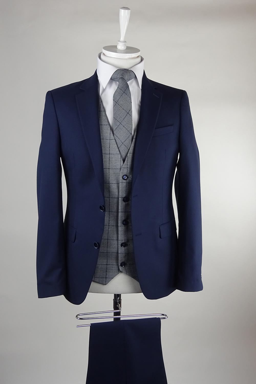 Navy Suit Hackett Waistcoat
