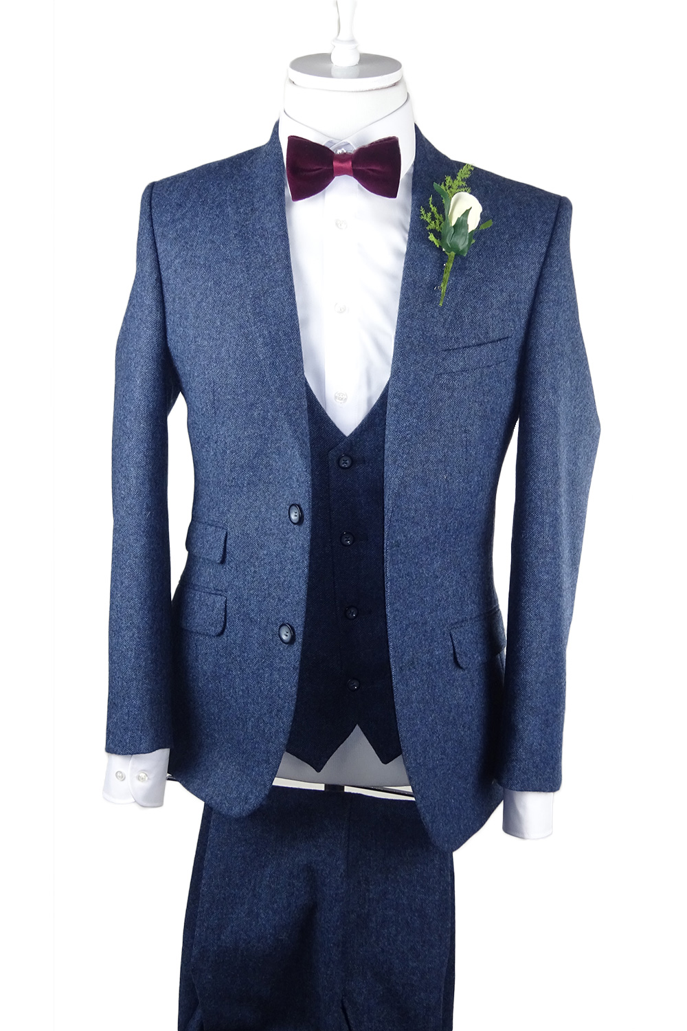 Petrol Tweed 3 Piece Suit