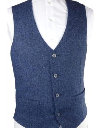 Petrol Tweed Waistcoat