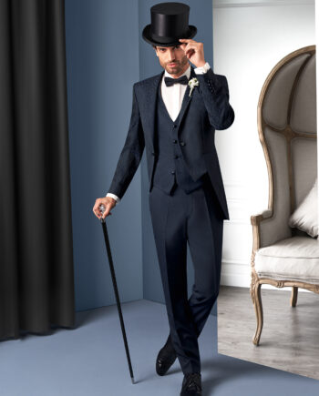 Black Body Line 3 piece Wedding Suit