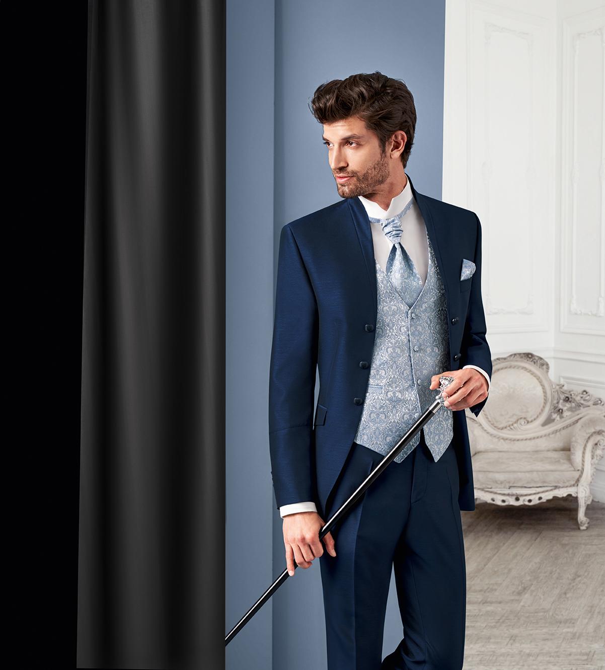 Blue 3 piece Royal Wedding Suit