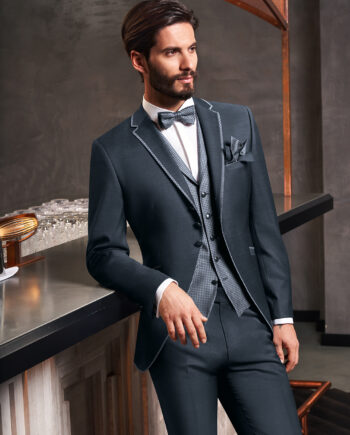 Charcoal 3 piece Wedding Suit