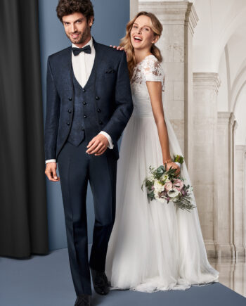 Midnight Blue 3 piece wedding suit