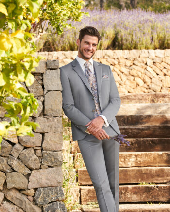 Pale Grey 3 piece Wedding Suit