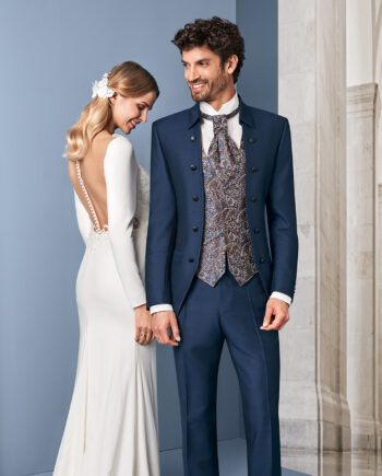 Royal Blue 3 piece Wedding Suit