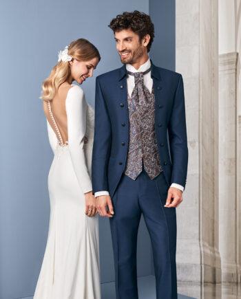Royal Blue 3 piece Wedding Suit