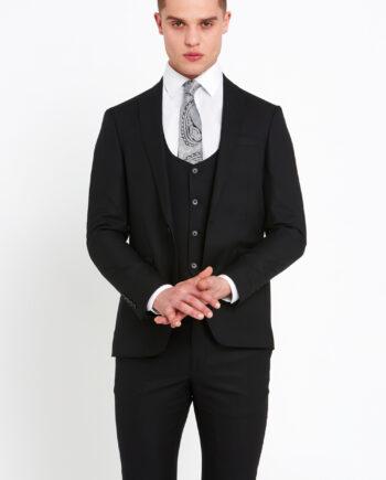 Antoine Black 3 Piece Suit