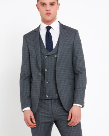 Rufus Grey Check 3 Piece Suit