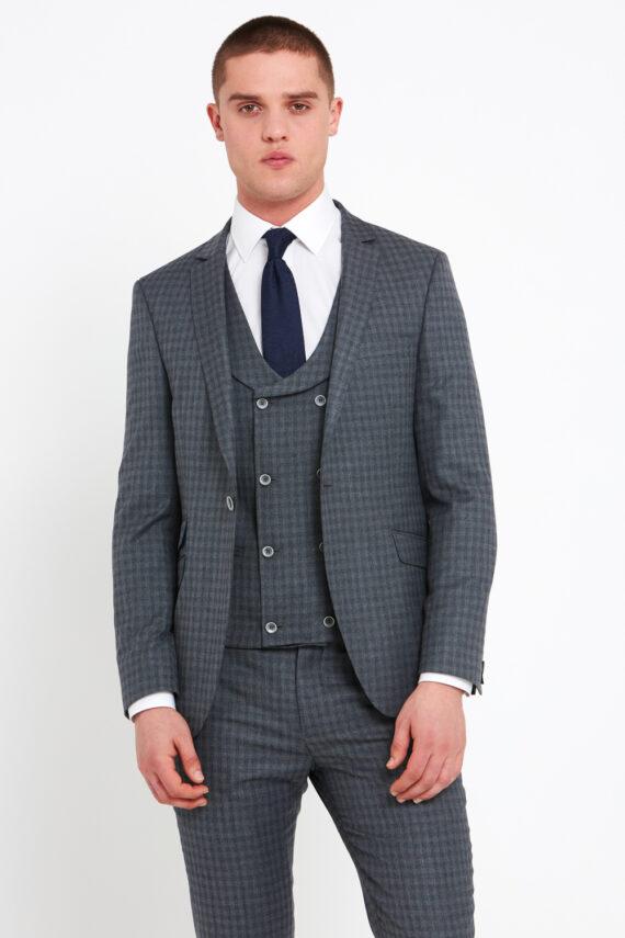 Rufus Grey Check 3 Piece Suit