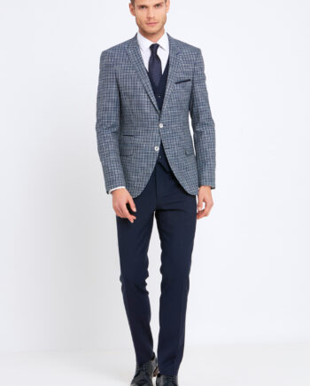 Darcy Navy Check 3 Piece Suit