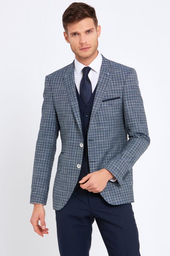 Darcy Navy Check 3 Piece Suit