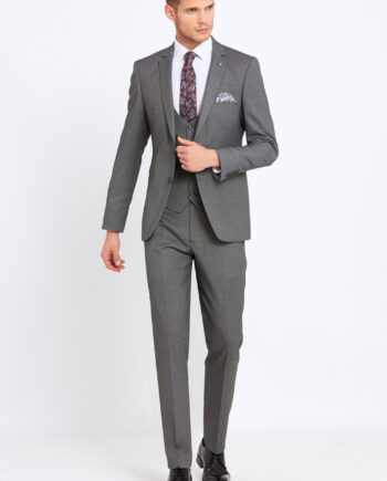 Emmet Silver Grey 3 Piece Suit