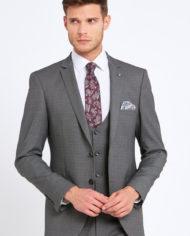 Emmet Silver Grey 3 Piece Suit