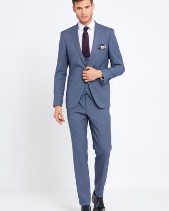 Emmet Sky Blue 3 Piece Suit