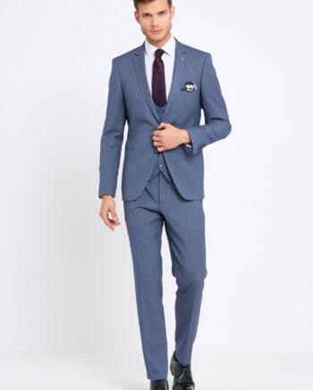 Emmet Sky Blue 3 Piece Suit