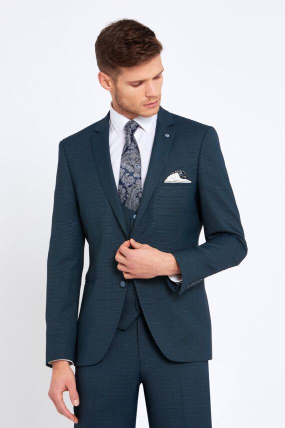 Emmet Teal 3 Piece Suit