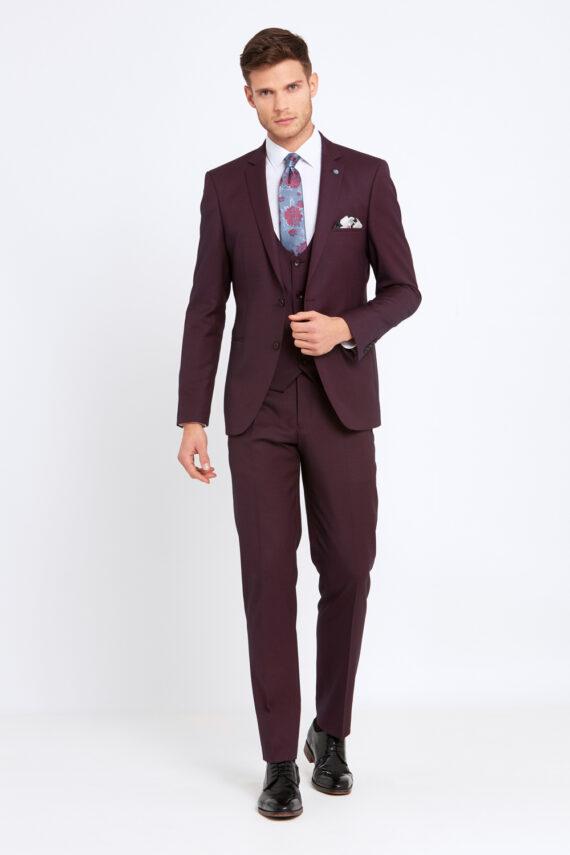 Emmet Wine 3 Piece Suit