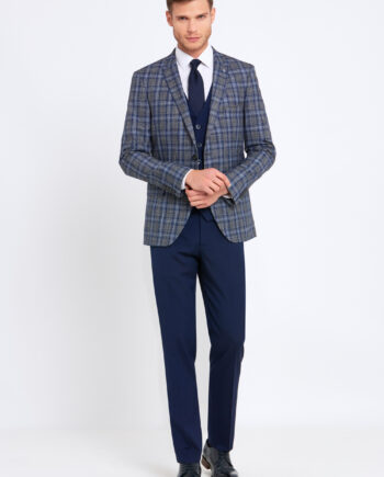 Errol Grey Check 3 Piece Suit