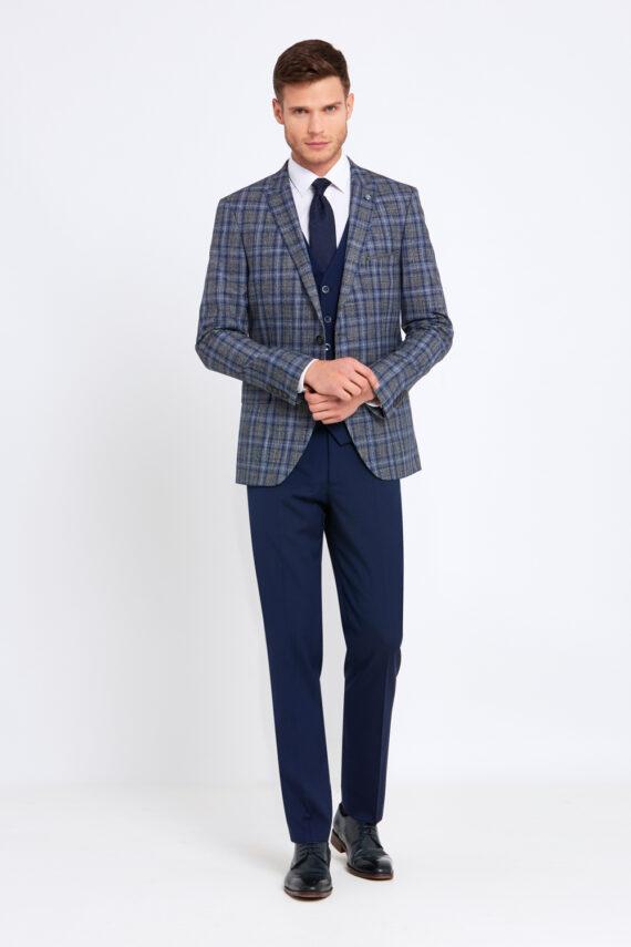 Errol Grey Check 3 Piece Suit