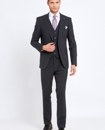 Johnny Charcoal 3 Piece Suit
