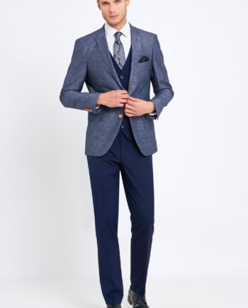 Nigel Navy Check 3 Piece Suit