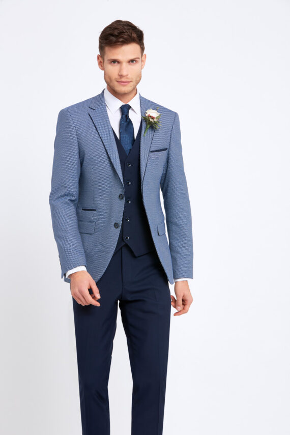 Alexander Blue 3 Piece Suit