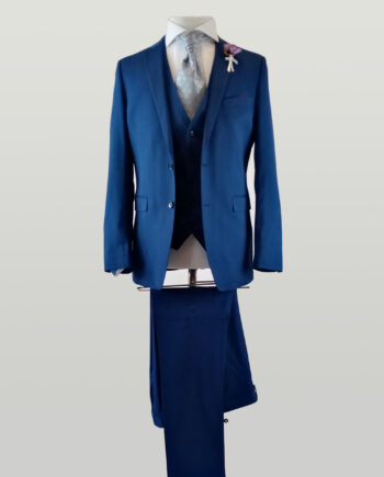 Azure 3 Piece Electric Blue Suit