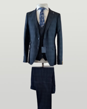 Baltimore Blue Check 3 Piece Suit