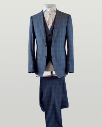Bilmore Blue Check 3 Piece Suit