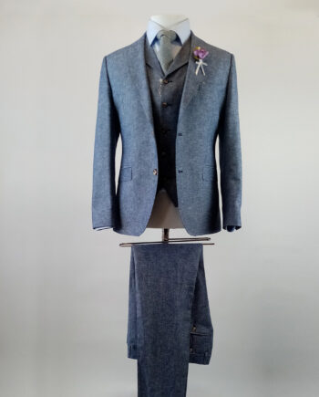 Cedar Linen Blue 3 Piece Suit