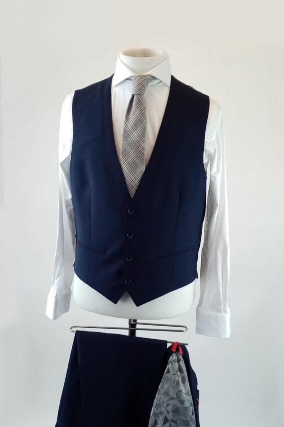 Chilli Navy Suit Lambswool Navy Waistcoat