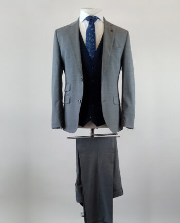 Como Grey 3 Piece Suit