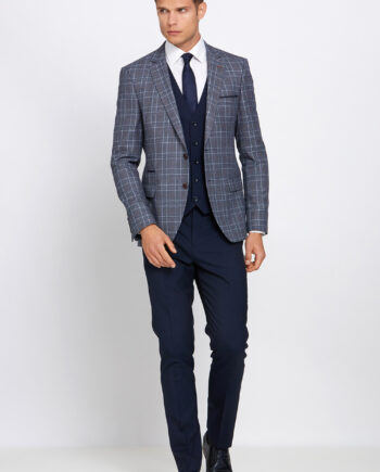 Gordon Grey Check 3 Piece Suit