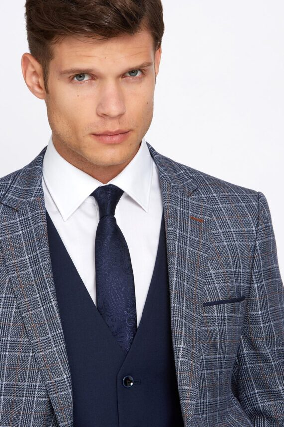 Gordon Grey Check 3 Piece Suit
