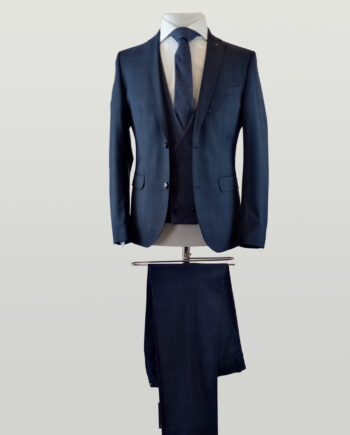 Holby Navy Check 3 Piece Suit