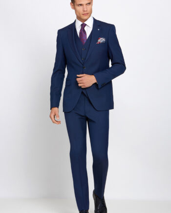 James Petrol Blue 3 Piece Suit