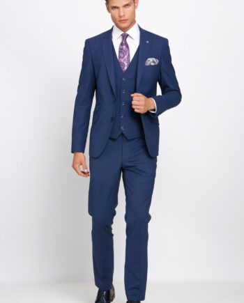 Johnny Petrol Blue 3 Piece Suit