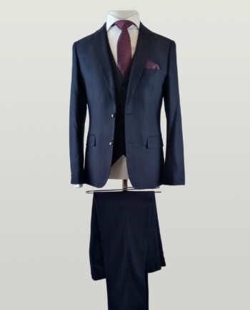 Merlot Navy 3 Piece Suit
