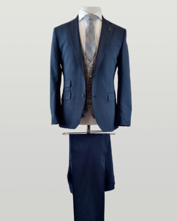 Mid Blue 3 Piece Suit