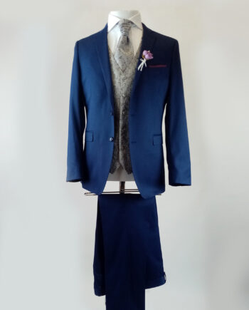 Rochester Mid Blue 3 Piece Suit