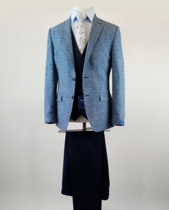 Simon Blue 3 Piece Suit