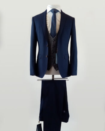 Waverly Blue 3 Piece Suit
