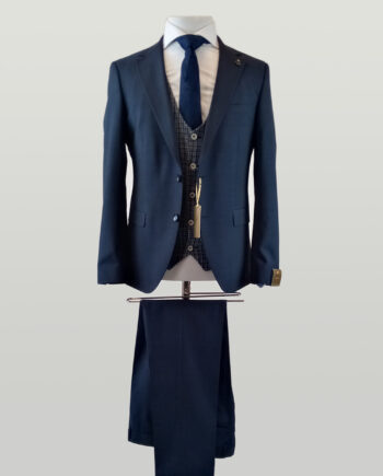 Navy Speckled Hugo Suit